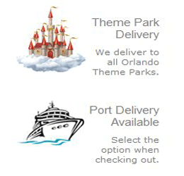 Theme parks scooter delivery